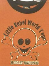 Harley Davidson Motorcycle Boys T-shirt Little Rebel World Tour New 18m Last 1