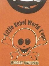 Harley Davidson Motorcycle Boys T-shirt Little Rebel World Tour 18m New 1 Left