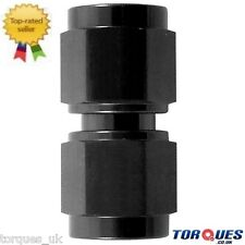 """AN -16 (AN16 1-5/16"""" UNF JIC -16) Female to Female Adapter Fitting in Black"""