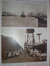 Photo article London Dock strike idle docks Royal Albert & King George V 1949