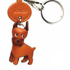 Boxer Handmade 3D Leather Dog Key chain/ring/fob *VANCA* Made in Japan #56711