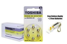 Toshiba Hearing Aid Batteries Size 10 (60 Cells) + Free Keychain/2 Batteries