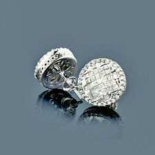 Pendientes Diamantes 14 k Oro blanco 1,43 qt. Top Wesselton VS Nuevo Joya de oro