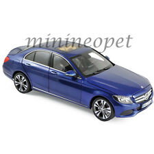 NOREV 183470 2014 MERCEDES BENZ C CLASS 1/18 DIECAST MODEL CAR BLUE METALLIC