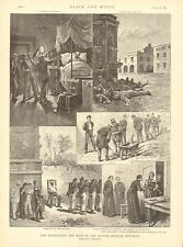 How Revolutions Are Made In Spanish American Republics, 2pgs, 1892 Antique Print