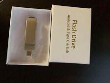 USB C Flash Drive 64GB, 3-in-1 USB 3.0 Thumb Drive External Storage Pen Drive -