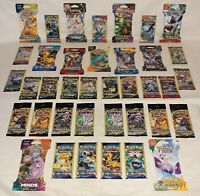 BIG Pokemon Sealed Booster Pack Lot / 38 Packs / 21 Different Sets  / ALL NEW