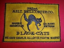 US 282nd Assault Helicopter Company BLACK CATS MARBLE MOUNTAIN Vietnam War Patch