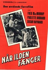 The Forest Rangers Fred MacMurray Paulette G 1942 Vtg Danish Movie Press Release