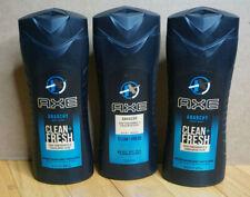 Lot of 3 Axe Anarchy Clean Fresh Body Wash Dark Pomegranate & Sandalwood 16oz