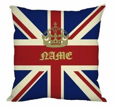 "Personalised Royal Union Jack Design 18x18 "" Cushion Great Gift Idea"