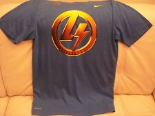 "NEW WT MEN'S NIKE ATHLETIC DRI-FIT COTTON T-SHIRT SMALL TOP ""LIVE STRONG"" BLUE"