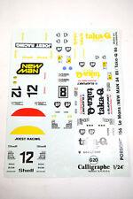 Decals Sticker Calligraphe G 20 Bp Porsche Joest Racing Ect. 1:24 New K37 #48