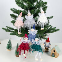 Christmas Angel Plush Doll Toy Christmas Tree Pendants Ornament Home Decoration-
