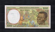ETATS DE l'AFRIQUE CENTRALE CONGO billet de 1000 Frs PK N° 102c g 2000 NEUF UNC