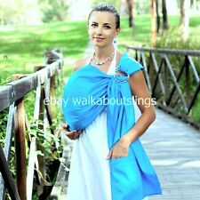 Walkabout Baby Ring Sling Carrier Pouch Cotton Newborn To Toddler Blue NEW