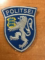 ESTONIA  PATCH POLICE POLITSEI  NATIONAL - ORIGINAL! RARE