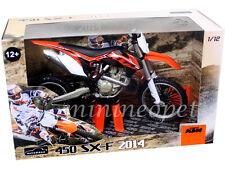 AUTOMAXX 603002 2014 14 KTM 450 SX-F DIRT BIKE MOTORCYCLE 1/12 BLACK / ORANGE