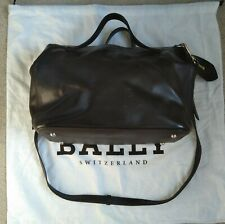 Bally chocolate rubberised leather small Kissen bag