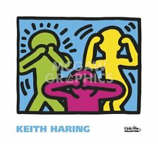 Untitled, 1989 (no evil) by Keith Haring Art Print See Hear Pop Poster 22x24