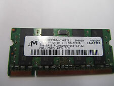 MAJOR NAME BRAND 1x 2GB PC2-5300S DDR2 667 / 200 Pin 2Rx8 LAPTOP MEMORY