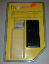 2 INIT Silicone IPod Nano Skin with Screen Protector NT-MP176 Black & Clear NEW