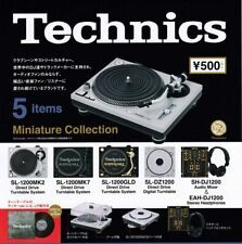Technics Miniature Collection Turntable Audio Mixer 5pc LP Set Toy Capsule A1846