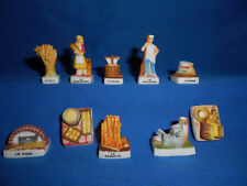 BAKER BREAD Making BAKERY Baking Set of 10 Mini Figurines FRENCH Porcelain FEVES