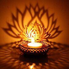 Traditional Lotus flower shadow Metal Tea Light Candle Holder Christmas gift