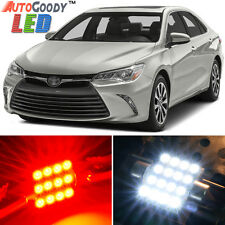 12 x Premium Red LED Lights Interior Package Kit for Toyota Camry 2007-2017