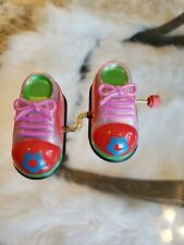 Vintage Z Wind Up Toys Walking Phantom Feet Trainers Shoes Hiking Boots