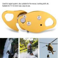 Stop Descender Self-Braking Climbing Rescue Rappel Belay Grab For 11-12.5mm Rope