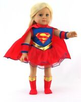 "4 Pc Super Girl Inspired Costume fits American Girl Dolls -18 "" Dolls"