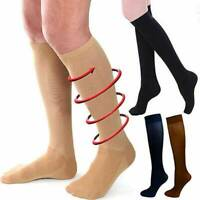 Unisex Pressure Varicose Veins Leg Support Compression Socks Long Stockings HOT