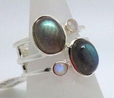 Moonstone Not Enhanced Sterling Silver Fine Rings