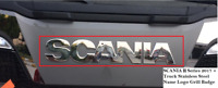SCANIA S Series 2017 + Truck Stainless Steel Name Logo Grill Badge