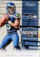 2012 RUSSELL WILSON 🔥🔥ROOKIE🔥🔥 Panini Prestige #238 - Seattle Seahawks