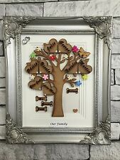 Personalised Framed Engraved Family Tree Birthday Friend Gift  Mothers Day