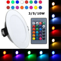 RGB LED Panel Lamp 3W 5W 10W Dimmable Recessed Ceiling Down Light Bulb w/