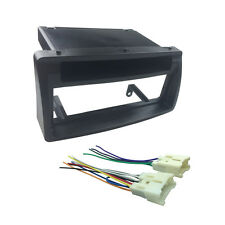 Single Din Fascia for Corolla Stereo Install Dash Mount Kit Wiring Harness