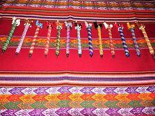 LOT 25  LLAMA PENS HANDMADE NICE COLORS-HANDMADE IN PERU