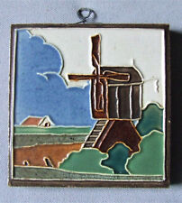 Westraven Art Tile Windmill Landscape Holland Dutch Royal Delft Wall Plaque