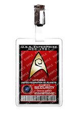 Star Trek division de la sécurité Starfleet badge d'identification Cosplay Prop Costume Comique avec