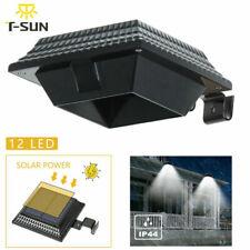 Solar Light Sensor Gutter Light Outdoor Wall Roof Garden Lamp Fence *US STOCK*