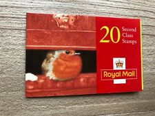Lx10 Christmas Robin Barcode Booklet. 20 x 2nd class (19p) stamps. Mnh.