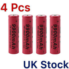 4//8/12pcs18650 3.7V 9900mAh Li-ion Rechargeable Batteries Cell + Charger