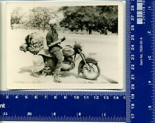 Vintage Photo biker motorcycle moto bike USSR Harley Davidson