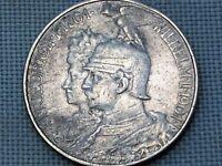 Germany Empire Prussia 1901 2 Silver Mark Bicentenary Wilhelm II Friedrich I