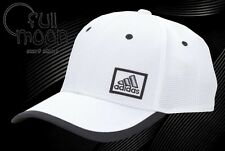 New Adidas Mens Lock Stretch Fit Flex Climalite White Cap Hat