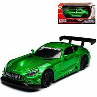 MERCEDES-BENZ AMG GT3 1:43 Model Toy Car Diecast Cars Miniature Die-Cast Green